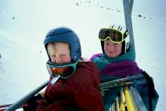 Ellen and Natalie on the chairlift